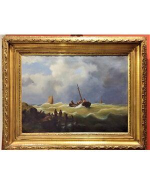 Dipinto olio su tela  Scuola Olandese