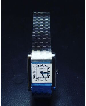 Cartier Tank Normale White Gold with Original Cartier White Gold Bracelet