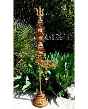 Katvanga oggetto rituale Tibet rame dorato