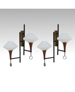 Coppia appliques Esperia design anni '50