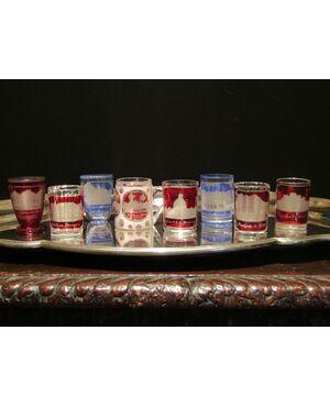 Rarissima e preziosa collezione di bicchieri e boccali Biedermeier