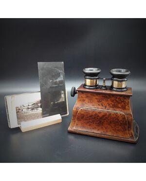 Visore, Stereoscopio Brewster, 1860c.