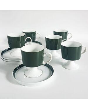 Servizio da caffé porcellana Tapio Wirkkala per Rosenthal studio line