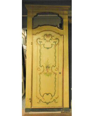 ptl145  tre porte laccate epoca '700, mis. h cm 310 x 125
