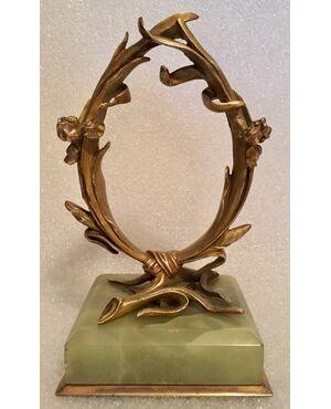 Porta orologio Liberty in bronzo