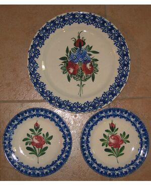 03 Piatti Gabutti con decori floreali.
