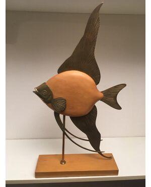 wood fish sculpture