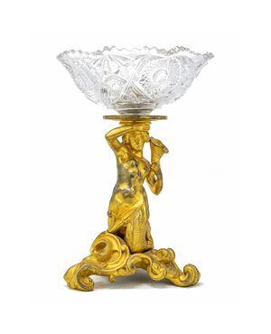 Coppa in bronzo con nereide (XVIII-XIX secolo)