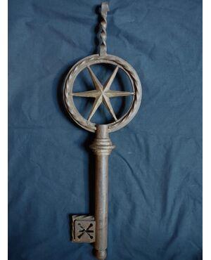 Splendida insegna da serraturiere XVIII secolo cm 61