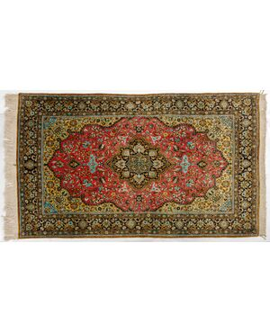 Tappeto persiano GHUM o KUM in pura seta - n.117
