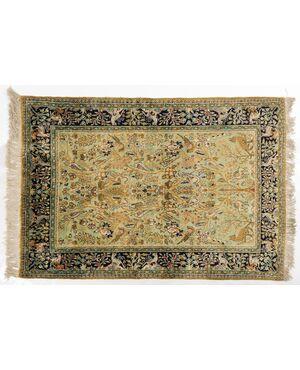 Tappeto persiano GHUM o KUM in pura seta - n.665